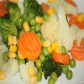 Vegetables on butter